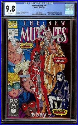 New Mutants # 98 CGC 9.8 White (Marvel 1991) 1st appearance Wade Wilson Deadpool
