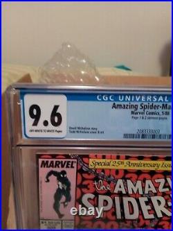 RARE SIAMESE PAGES! KEY w PRINTING ERROR! AMAZING SPIDER-MAN # 300 CGC 9.6 WithOW