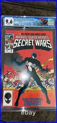 SECRET WARS 8 CGC 9.6 BRAND NEW CASE origins of the symbiote