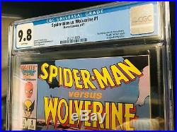 SPIDER-MAN vs WOLVERINE #1 (Marvel Comics, 1987) CGC Graded 9.8 White Pages Mint