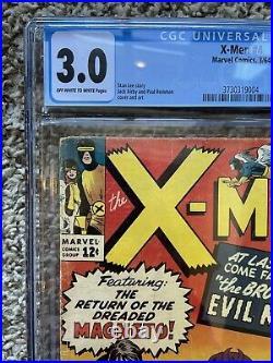 Silver Age Comic Lot X-Men #4 1st Scarlet Witch Magneto H@T KEY CGC 3.0 CBCS PGX