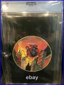 Spider-Man #1 CGC 9.4 Marvel 1990 Todd McFarlane! Platinum Edition! WP K8 222 cm