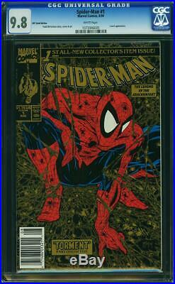Spider-Man #1 CGC 9.8 Marvel 1990 UPC Gold Edition! Todd McFarlane! K12 105 cm