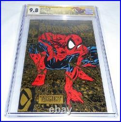 Spider-Man #1 CGC SS Signature Autograph STAN LEE Gold Variant Edition 9.8 L@@K