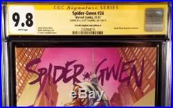 Spider-gwen #24 Cgc Ss 9.8 Campbell Variant Man Venom Ghost Carnage Black Cat Mj