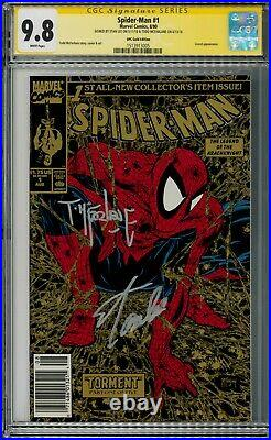 Spider-man 1 Gold UPC CGC 9.8 signed by Todd Mcfarlane and Stan Lee