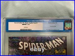 Spider-man 1. Mcfarlane. Chromium Variant Edition. Cgc 9.8. Nm/mt. Marvel Classic 2