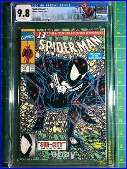 Spider-man #13 CGC 9.8 White McFarlane Black costume #1 Homage Custom Label