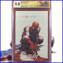 Spider-man Annual #1 Crain Virgin Variantcgc 9.8 Ss Signed By Clayton Crain