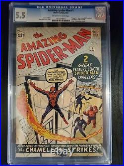 The Amazing Spider-Man #1 1963 CGC 5.5