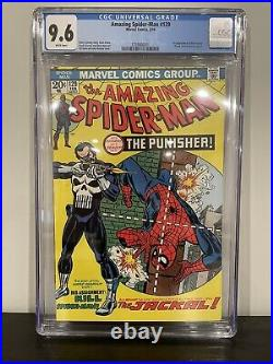 The Amazing Spider-Man #129 CGC 9.6 WHITE PAGES 1st PUNISHER (Feb 1974)