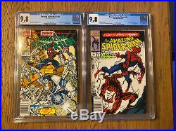 The Amazing Spider-Man #360 & 361 CGC 9.8 NEWSSTAND 1st Cameo Appearance Carnage