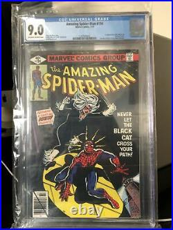 The Amazing Spiderman #194 cgc 9.0 1st App BLACK CAT