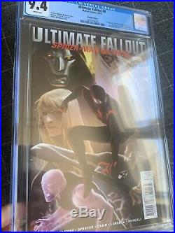 ULTIMATE FALLOUT 4 VARIANT CGC 9.4 Djurdevic 1st MILES Morales Spider-Man no 9.6