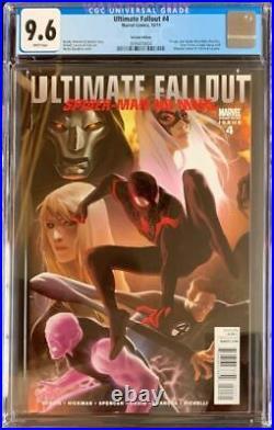 Ultimate Comics Fallout #4 Djurdjevic 125 Cgc 9.6 Miles Morales Variant Cover