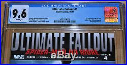 Ultimate Fallout #4 CGC 9.6 (WHITE PAGES) 1st App new Spider-Man (Miles Morales)