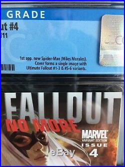 Ultimate Fallout #4 Djurdjevic Variant Edition 1st Miles Morales CGC 9.8 White