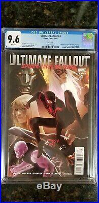 Ultimate fallout #4 CGC 9.6 White 1st Miles Morales Djurdjevic Variant