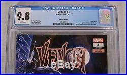 Venom 3 Marvel 2018 CGC 9.8 125 Jorge Molina Variant 1st Knull