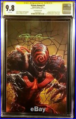 Venom Annual #1 Cgc Ss 9.8 Clayton Crain B Variant Spider-man Carnage Knull Gwen