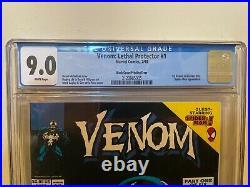 Venom Lethal Protector #1, BLACK COVER Printing Error, CGC 9.0 (RARE)